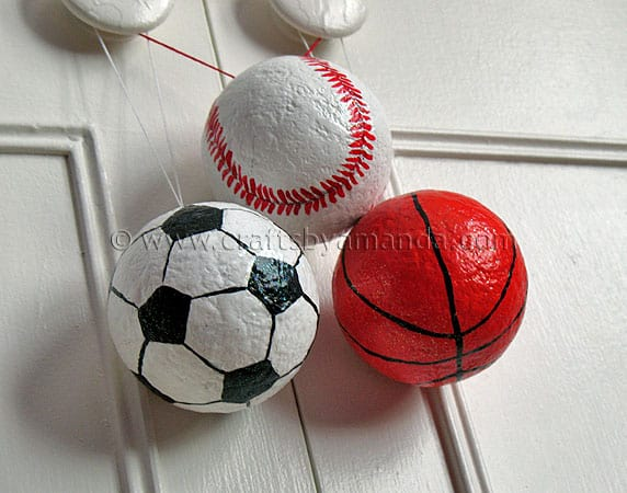 polystyrene ball craft ideas sports ornaments crafts by amanda 5228