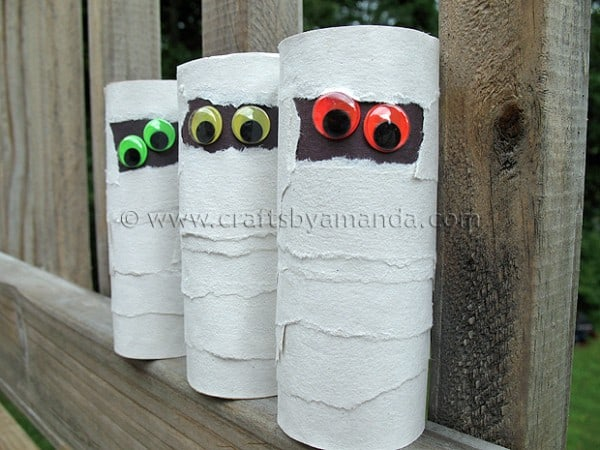 cardboard tube mummies - Halloween Mummy Crafts