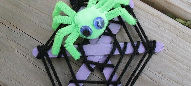 Craft Stick Spider Web - Crafts by Amanda