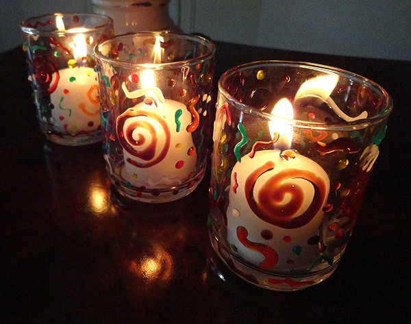 Confetti Fall Votives