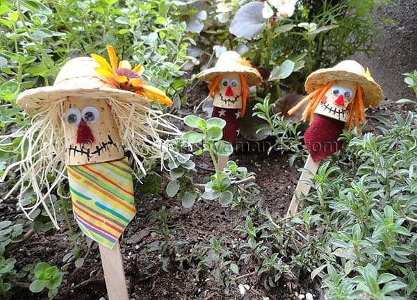 Craft Stick Scarecrows...