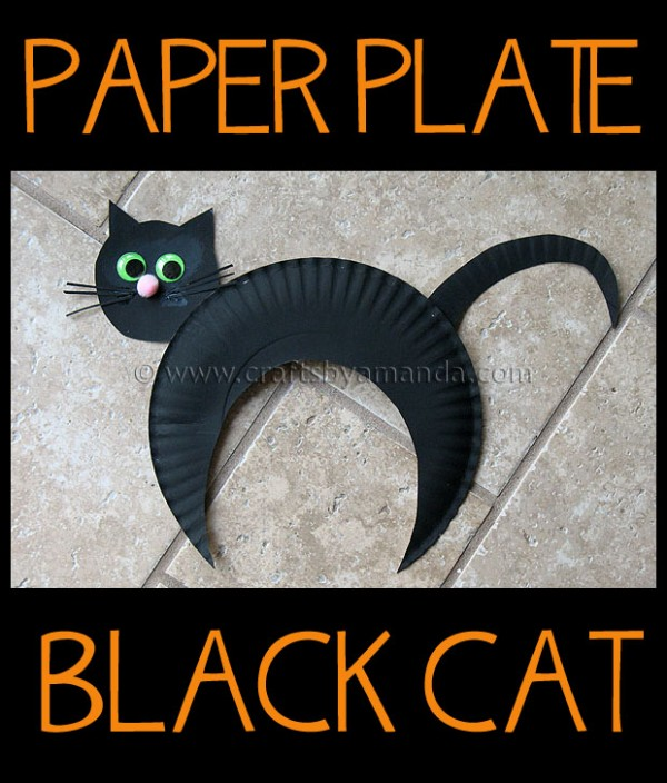 Make An Adorable Paper Plate Black Cat For Halloween Or ANYTIME Cute Craft Rom Amanda