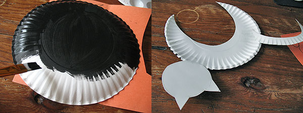 Paper Plate Black Cat step photos
