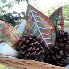 Glitter Paper Leaves
