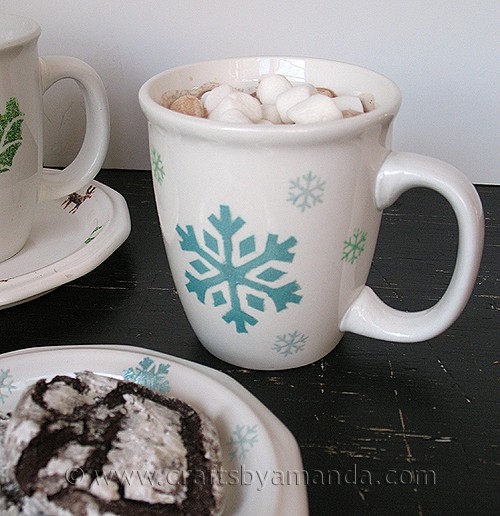 Make Your Own Holiday Tableware & Make Your Own Holiday Tableware - Crafts by Amanda