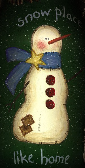 Snowman Painted Jar: Snow Place Like Home by Amanda Formaro