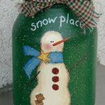 Snowman Painted Jar: Snow Place Like Home