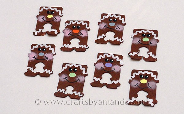 Bread Tag Gingerbread Men