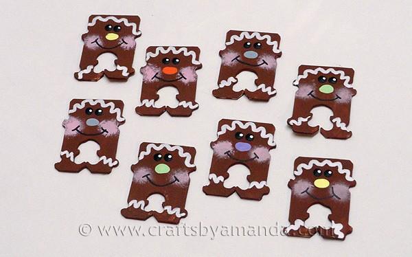 Bread Tag Gingerbread Men