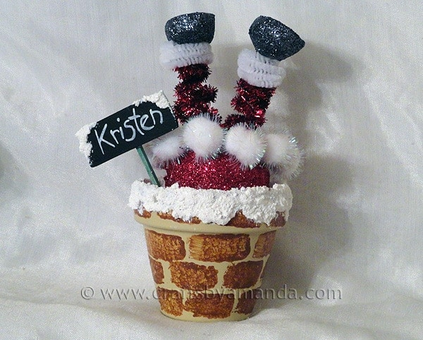 Santa Chimney Place Setting