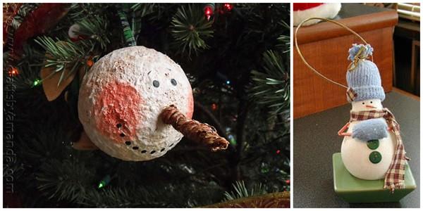 Snowman Ornaments by Amanda Formaro of Crafts by Amanda