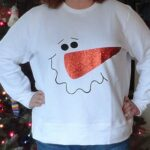 Iron On Glitter Snowman Shirt