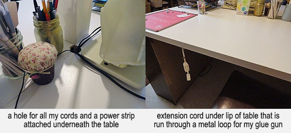 DIY Craft Table with Magnetic Chalkboard