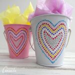 Polka Dot Heart Valentine Buckets