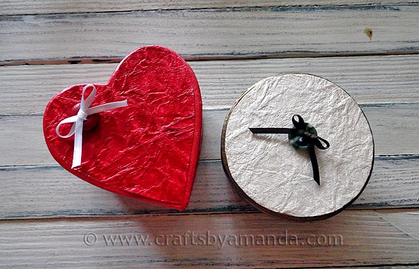 Shimmering Valentine Gift Boxes