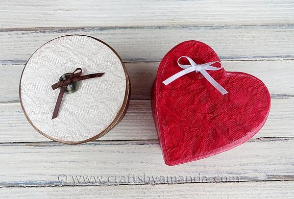 Shimmering Valentine Boxes