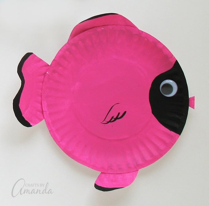 Paper Plate Tropical Fish Pink