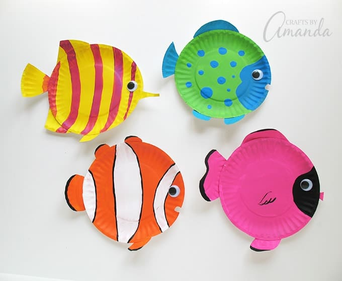 These paper plate tropical fish have bright cheery and vibrant colors. Thereu0027s no doubt : crafts from paper plates - Pezcame.Com