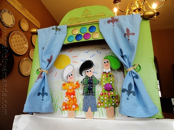Craft Stick Puppet Theater