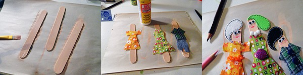 Craft Stick Puppet Theater