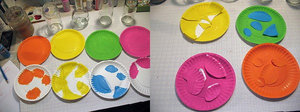 How to make paper plate fish, paint on plates