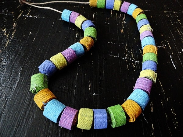 Colorful Recycled Denim Beads