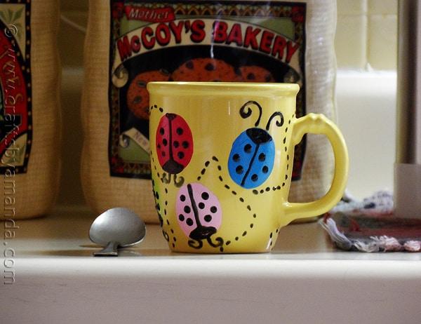 Кружка кофе Божья коровка