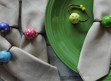 Pretty Spring Napkin Rings