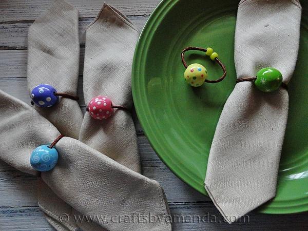Pretty Spring Napkin Rings