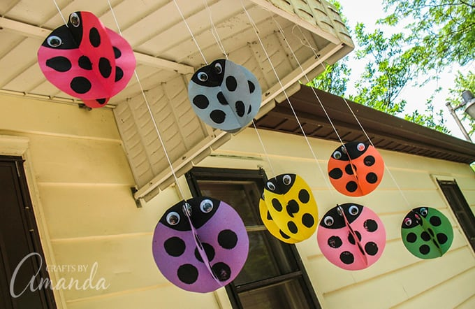 Easy twirling ladybugs