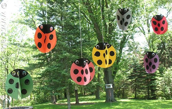 Twirling Ladybug Craft
