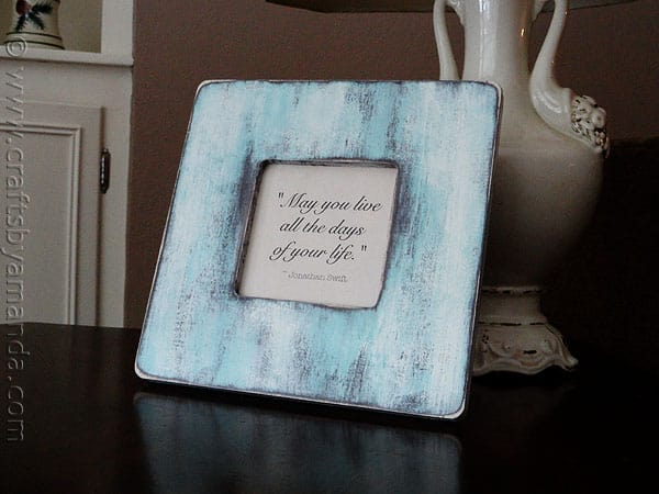 Vintage Quotation Frame