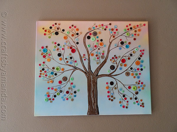 Vibrant Button Tree