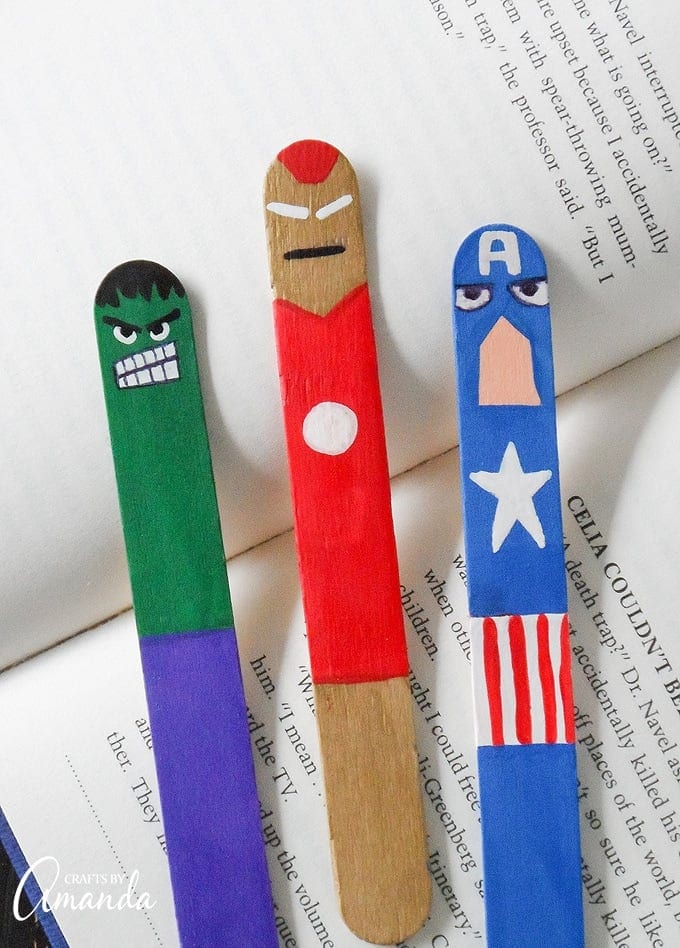 Fun Avengers crafts and activities shared by top US Disney blogger, Marcie and the Mouse: avengers bookmarks