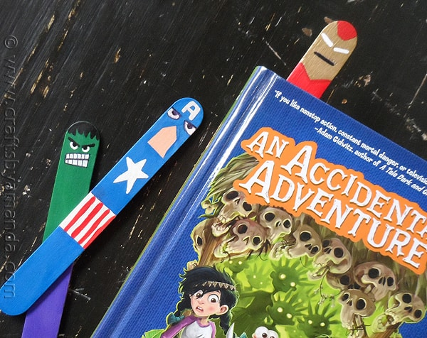 Avengers Craft: Bookmarks