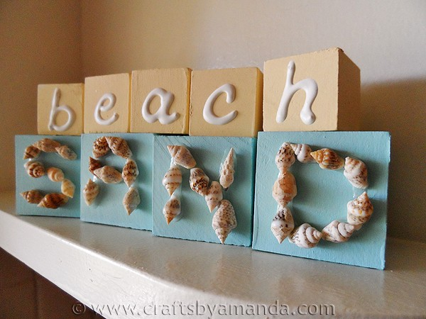seashell beach blocks crafts by amanda