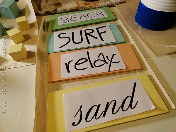 Weathered Beach Signs templates