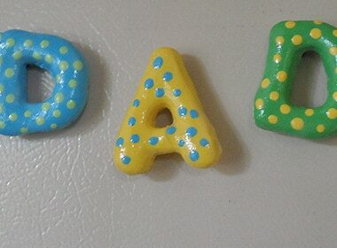 Salt Dough Dad Magnets