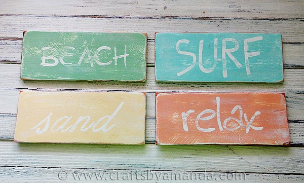 Weathered Beach Signs