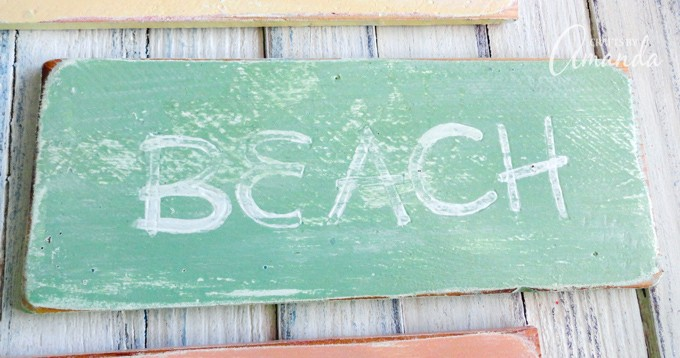 How to make weathered beach signs 3