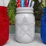 Epsom Salt 4th of July Star Jars