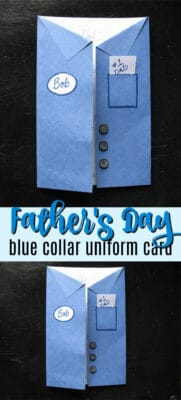 father's day blue collar uniform card pin image