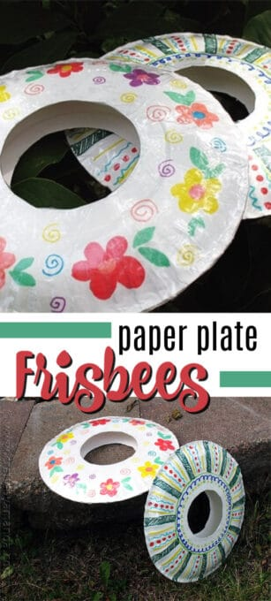 paper plate frisbees pin image