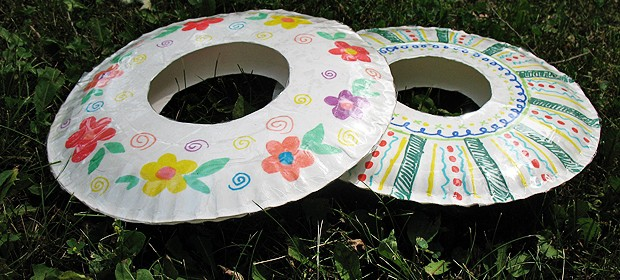 Paper Plate Frisbees Crafts By Amanda