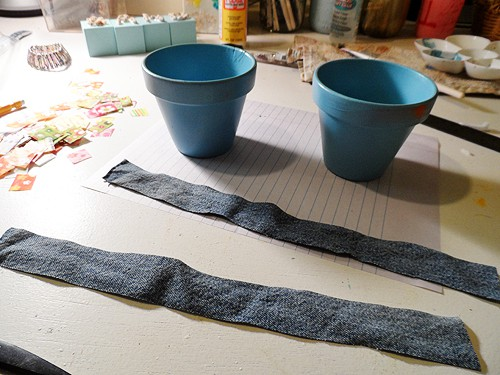 Denim & Fabric Scrap Pots