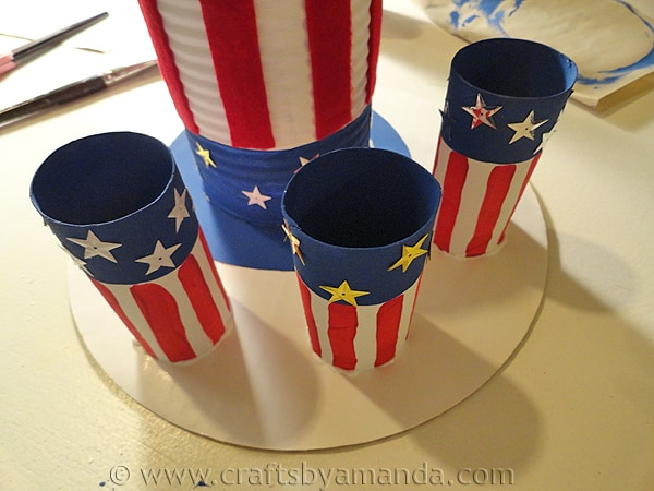 Recycled Patriotic Utensil Holder