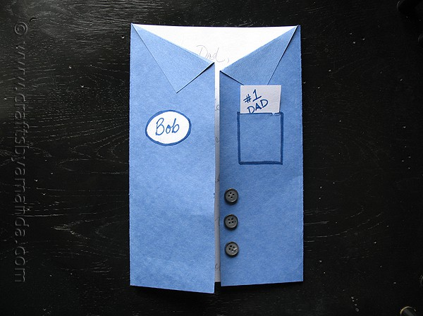 Father's Day Blue Collar Uniform Shirt Card