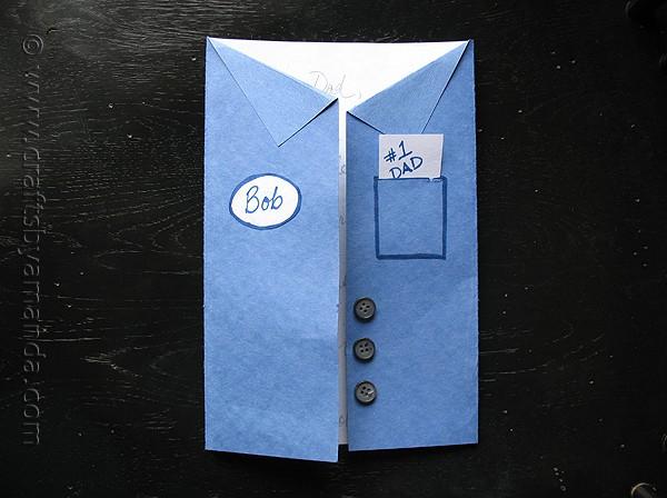 Father's Day Blue Collar Uniform Shirt Card
