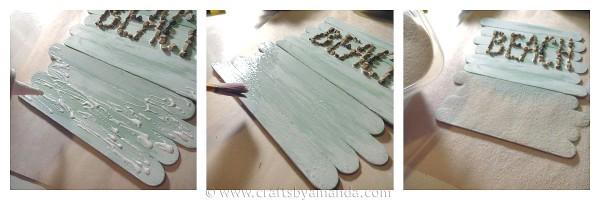 Craft Stick Beach Sign