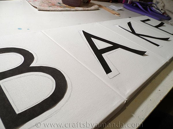 Kitchen Bake Sign: Epsom Salt on Canvas